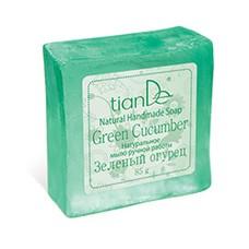 Натуральное мыло ручной работы «Зеленый огурец»